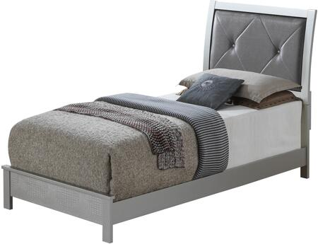 Glory Furniture Glades G4200ATB Bed Silver, 1
