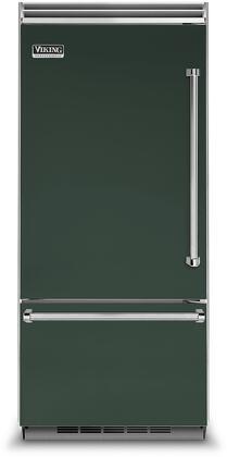 Viking 5 Series VCBB5363ELBF Bottom Freezer Refrigerator Green, VCBB5363ELBF Bottom-Freezer Refrigerator