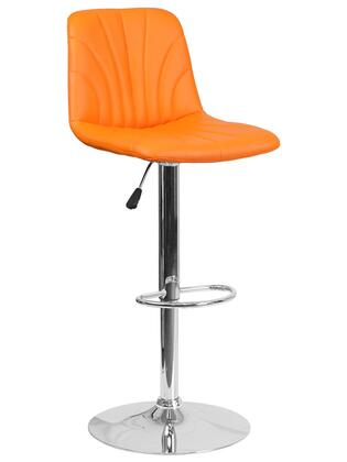 Flash Furniture DS8220 DS8220ORGG Bar Stool Orange, DS8220ORGG