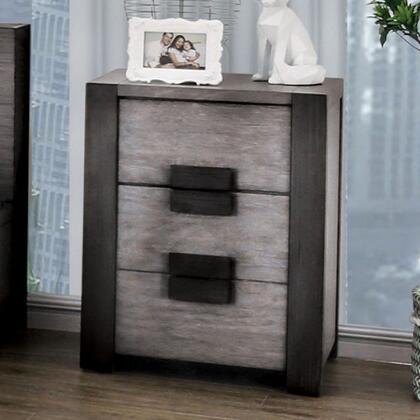 Furniture of America Janeiro CM7628GYN Nightstand Gray, CM7628GY-N