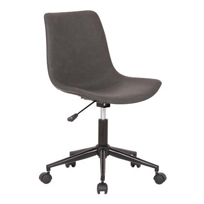 Armen Living Optima LCOPOFBLGR Office Chair Gray, LCOPOFBLGR side