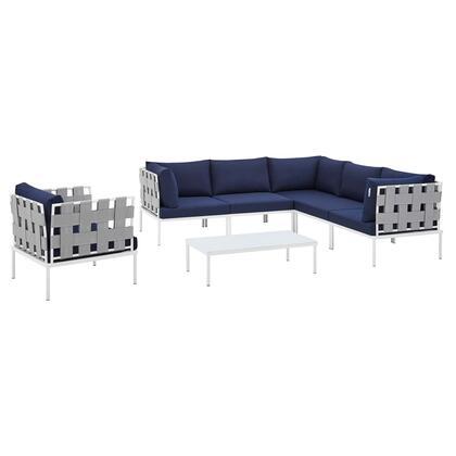 Modway Harmony EEI4937GRYNAVSET Sectional Sofa Blue, EEI 4937 GRY NAV SET 1