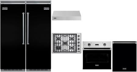Viking 5 Series 983847 Kitchen Appliance Package Black, main image