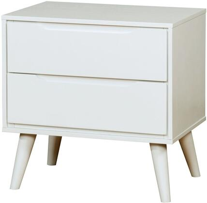 Furniture of America Lennart II CM7386WHN Nightstand White, 1