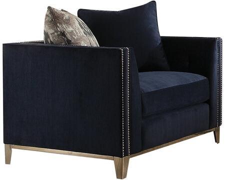 Acme Furniture Phaedra 52832 Living Room Chair Blue, 1