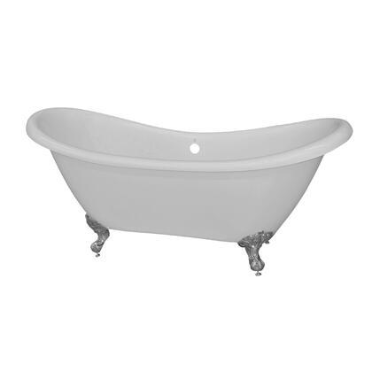 Valley Acrylic Affordable Luxury SLIPPER1WHTBLK Bath Tub White, Main Image
