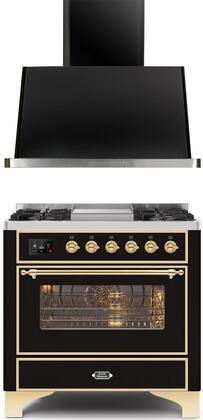 Ilve  1260300 Kitchen Appliance Package Black, Main image