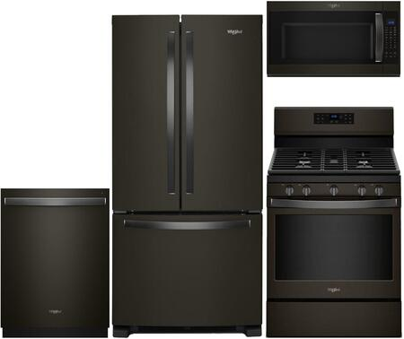 Whirlpool  929710 Kitchen Appliance Package Black Stainless Steel, 1