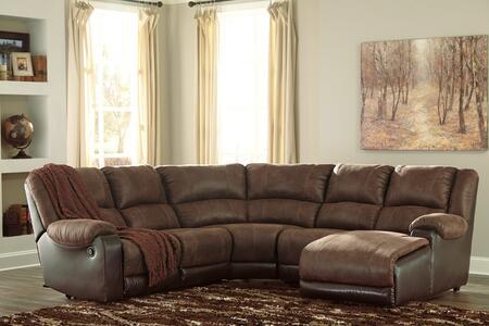 Signature Design by Ashley Nantahala 503024019774617 Sectional Sofa Brown, Main Image