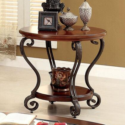Furniture of America May Series CM4326E End Table Brown, Main Image