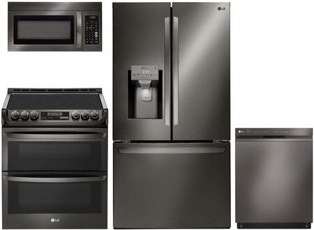 LG 1093446 Kitchen Appliance Package & Bundle Black Stainless Steel, main image