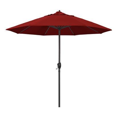 Casa Collection ATA908117-5403 9′ Patio Umbrella With Bronze Aluminum Pole Aluminum Ribs Auto Tilt Crank Lift With Sunbrella 2A Jockey Red