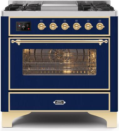 UM09FDNS3MBG 36″ Majestic II Series Dual Fuel Natural Gas Range with 6 Burners and Griddle  3.5 cu. ft. Oven Capacity  TFT Oven Control Display