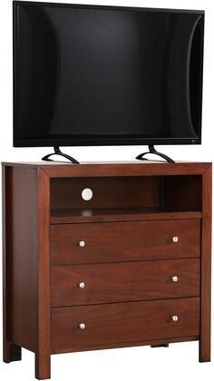 Glory Furniture Burlington G2400TV Chest of Drawer Brown, G2400TV Main Image