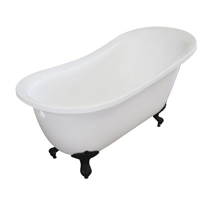Valley Acrylic Affordable Luxury IMPERIAL155CFWHTBLK Bath Tub White, Main Image