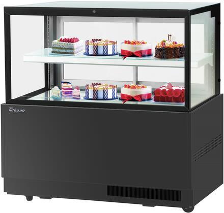 Turbo Air TBP6046FNB Display and Merchandising Refrigerator Black, TBP6046FNB Angled View