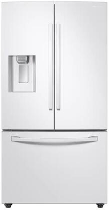 """RF23R6201WW 36"""" Counter Depth French Door Refrigerator with 22.6 cu. ft. Total Capacity Twin Cooling Plus Ice Max External Filter Water and Ice"""