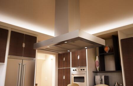 """ZRM-E36DS 36"""" Essentials Europa Series Roma Island Mount Chimney Range Hood with 600 CFM Internal Blower ACT Internal Blower ICON Touch Controls"""