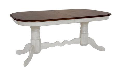 Sunset Trading Andrews DLUADW4296AW Dining Room Table White, DLUADW4296AW Main View