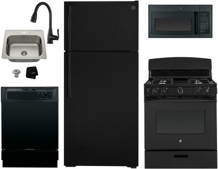 GE  1289717 Kitchen Appliance Package Black, Main image