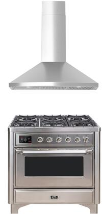 Ilve Majestic II 1150534 Kitchen Appliance Package Stainless Steel, main image