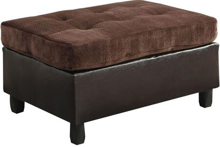 Acme Furniture Cleavon 51668 Living Room Ottoman Brown, Ottoman