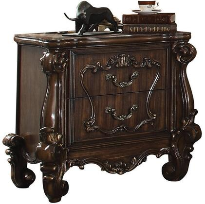 Acme Furniture Versailles 21103 Nightstand Brown, Angled View