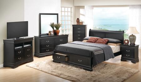 Glory Furniture G3150 G3150DFSB2BDMNCMC Bedroom Set Black, Main View