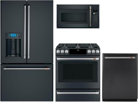 Cafe  1066281 Kitchen Appliance Package Matte Black, Main image