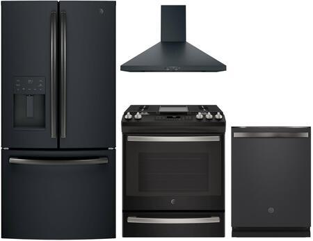 GE  1144000 Kitchen Appliance Package & Bundle Black Slate, main image