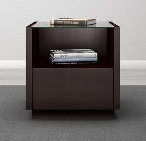 Furnitech Contemporary Collection FT23CCW End Table Brown, main image