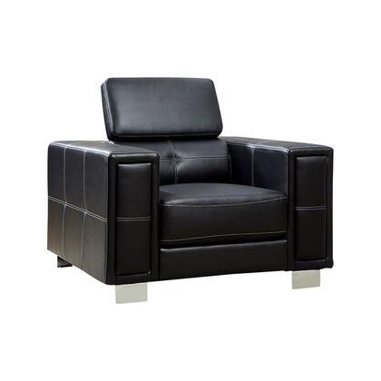 Benzara Garret BM123532 Accent Chair Black, BM123532