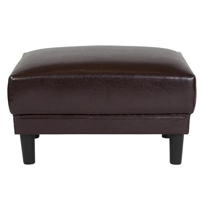 Flash Furniture Asti SLSF915OBRNGG Living Room Ottoman Brown, SL SF915 O BRN GG inset1
