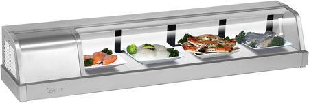 Turbo Air SAK60LN Display and Merchandising Refrigerator Stainless Steel, SAK60LN Angled View