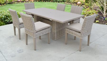 TK Classics COASTDTRECKIT6C Outdoor Patio Set, COAST DTREC KIT 6C