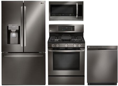 LG 1101339 Kitchen Appliance Package & Bundle Black Stainless Steel, main image