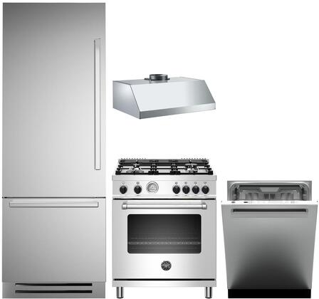 Bertazzoni  1054894 Kitchen Appliance Package Stainless Steel, Main Image