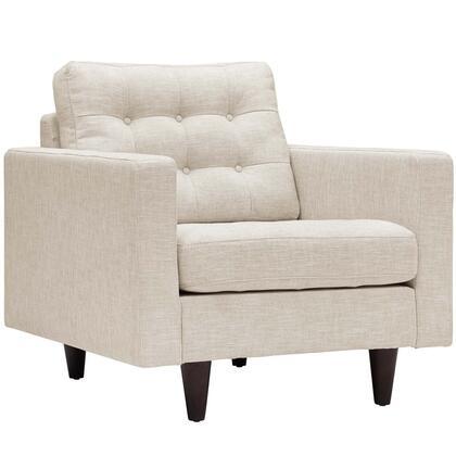 Modway Empress EEI1013BEI Accent Chair Beige, 1