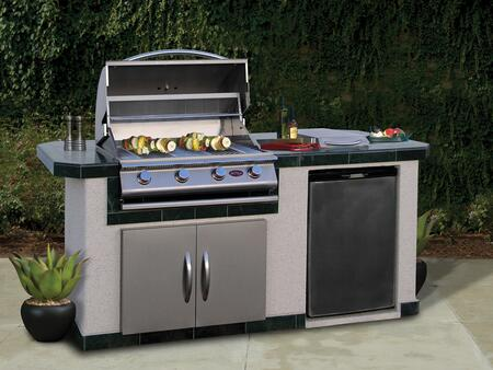 Cal Flame  LBK710 Outdoor Kitchen Island Stainless Steel, Main View