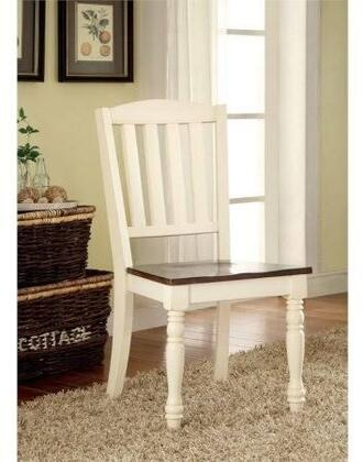 Furniture of America Harrisburg CM3216SC2PK Dining Room Chair White, Main Image
