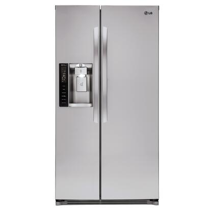 LG  LSXS26326S Side-By-Side Refrigerator Stainless Steel, Front