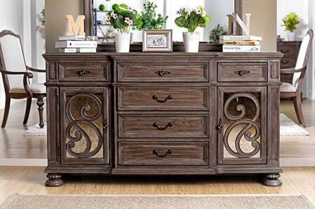 Furniture of America Arcadia CM3150SV Dining Room Buffet Brown, Main Image