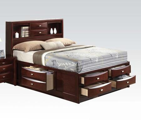 Acme Furniture Ireland 21590F Bed Brown, Angled View