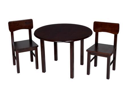 1407E Children'S Round Table W 2 Chair Set -