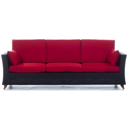 All Things Cedar PR90R Outdoor Patio Sofa Red, Main Image