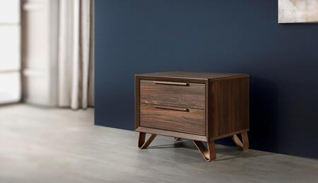 Venice Collection VENICE-NS-OEM-53 24″ Nightstand with 2 Soft Closing Drawers and Metal Handles in Oak Elm Matt