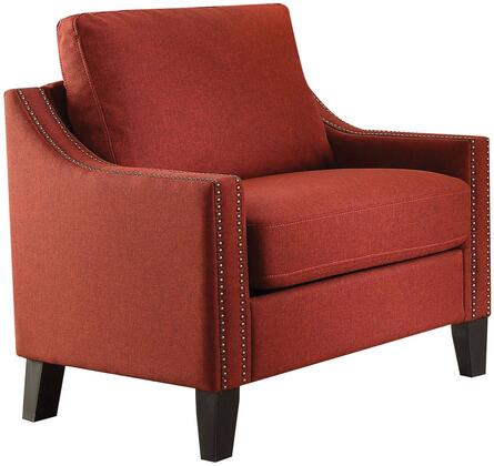 Acme Furniture Zapata 52492 Living Room Chair Red, 52492 Front