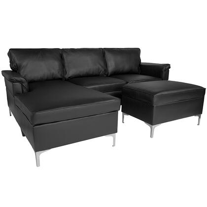 Flash Furniture Boylston BTS8375SFCHSEOTBKGG Sectional Sofa Black, BT S8375 SFCHSEOT BK GG