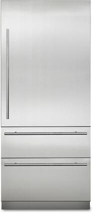 Viking Virtuoso MVBI7360WRSS Bottom Freezer Refrigerator Stainless Steel, Main Image