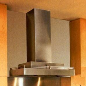 """Contemporary Series CWLH9-236-SS 36"""" Chimney Style Wall Mount Range Hood With 600 CFM Internal Blower Halogen Lighting Galley Rail Magic Lung"""